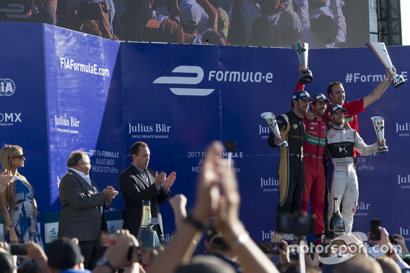 Podium: Lucas di Grassi, ABT Schaeffler Audi Sport, Jean-Eric Vergne, Techeetah. & Sam Bird, DS Virgin Racing