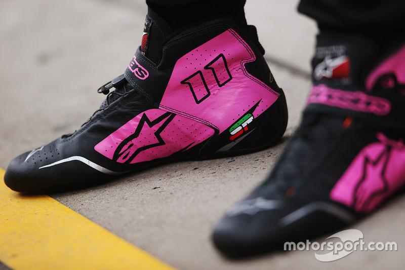 Les bottines de Sergio Pérez, Force India