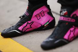 El calzado de Sergio Perez, Force India