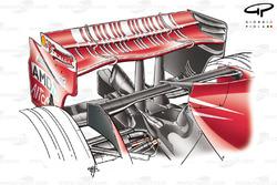 Ferrari F2007 (658) 2007, ala posteriore