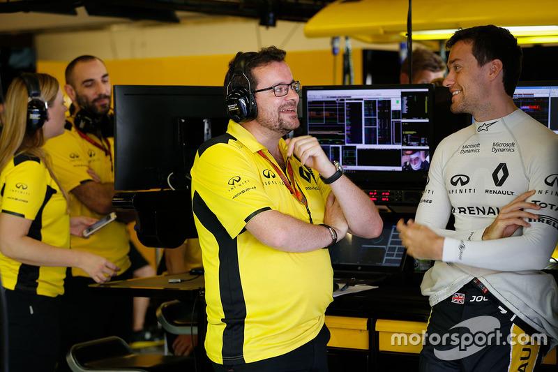 Julien Simon-Chautemps, Renault Sport F1 Team ingeniero de carrrea con Jolyon Palmer, Renault Sport F1 Team