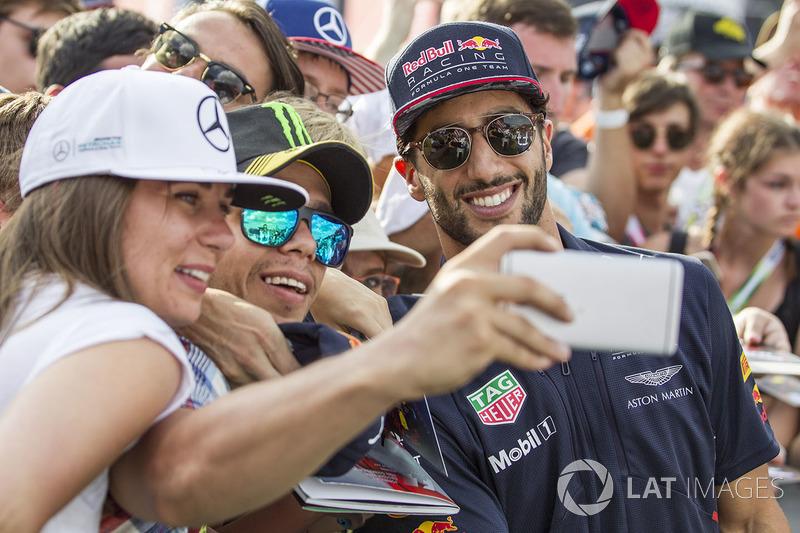 Даніель Ріккардо, Red Bull Racing, уболівальники