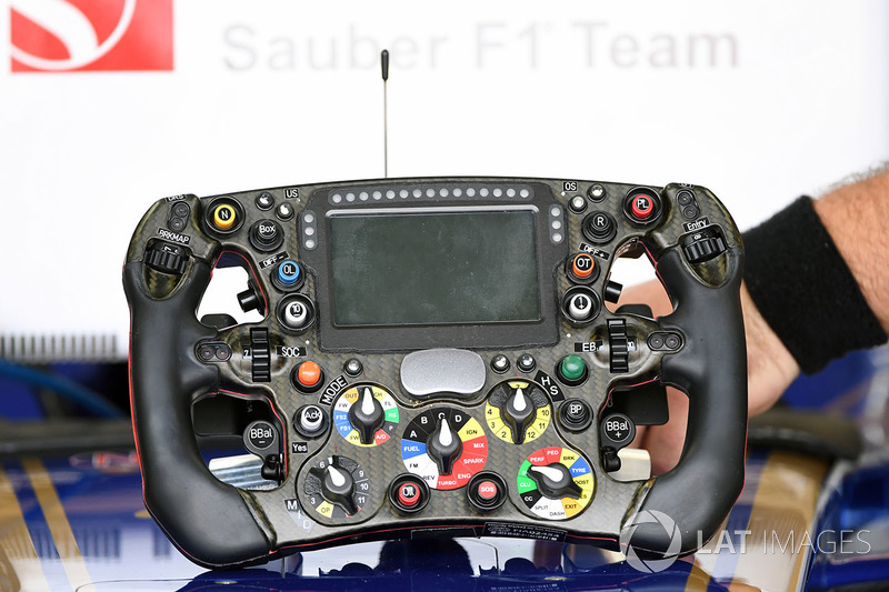 Sauber C36 steering wheel
