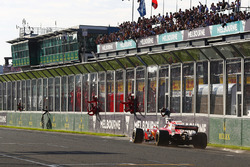 Sebastian Vettel, Ferrari SF70H takes the win