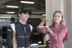 Esteban Gutiérrez, Techeetah Team y Nicki Shiels Reportera de Fórmula E TV