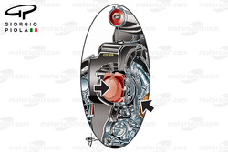 Mercedes W08 compressor, detailed
