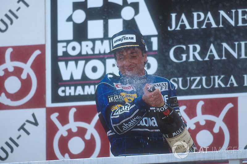 1992: 1. Riccardo Patrese, 2. Gerhard Berger, 3. Martin Brundle