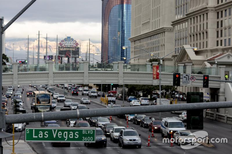 Ambiente y escena de la calle de Las Vegas