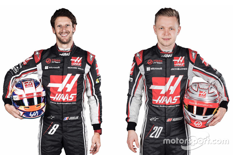 Romain Grosjean en Kevin Magnussen zitten dit jaar achter het stuur bij Haas F1