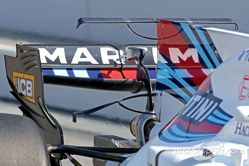 Заднее антикрыло на машине Williams FW40