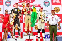 Winner Pietro Fittipaldi, second place Harrison Newey, third place Mick Schumacher