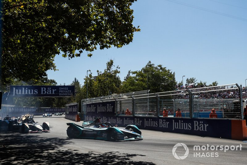 Mitch Evans, Jaguar Racing, Jaguar I-Type 3, Jose Maria Lopez, GEOX Dragon Racing, Penske EV-3