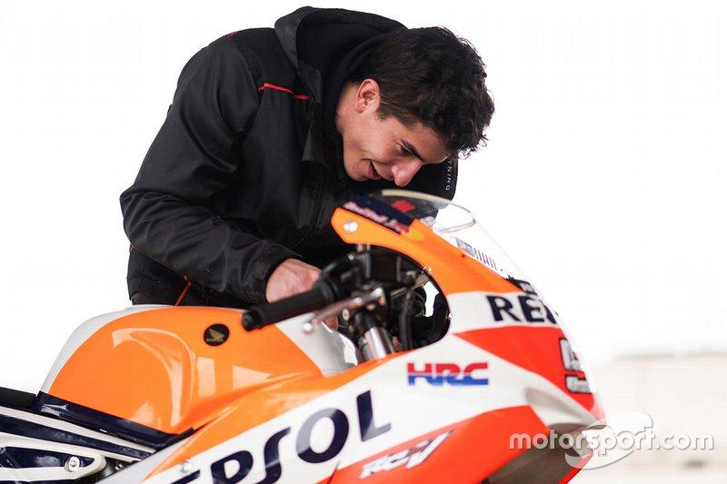 Marc Marquez terug op de motor