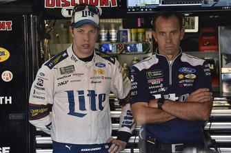 Brad Keselowski, Team Penske, Ford Fusion Miller Lite and Paul Wolfe