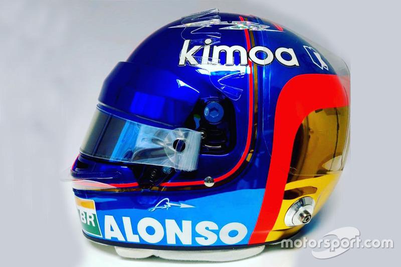 Der Abschiedshelm von Fernando Alonso