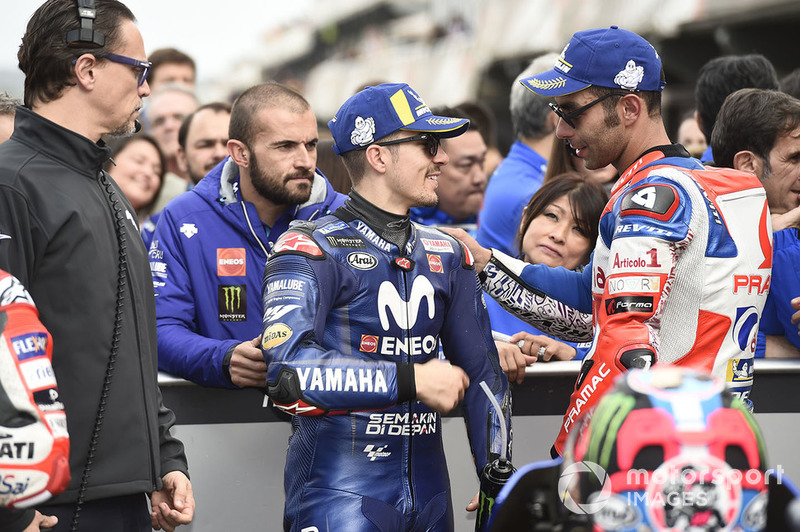 Maverick Viñales, Yamaha Factory Racing, Danilo Petrucci, Pramac Racing