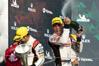 Podium LMP2: second place #37 Jackie Chan DC Racing Oreca 07 Gibson: Weiron Tan