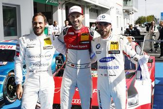 Pole position for René Rast, Audi Sport Team Rosberg, Gary Paffett, Mercedes-AMG Team HWA, Philipp Eng, BMW Team RBM