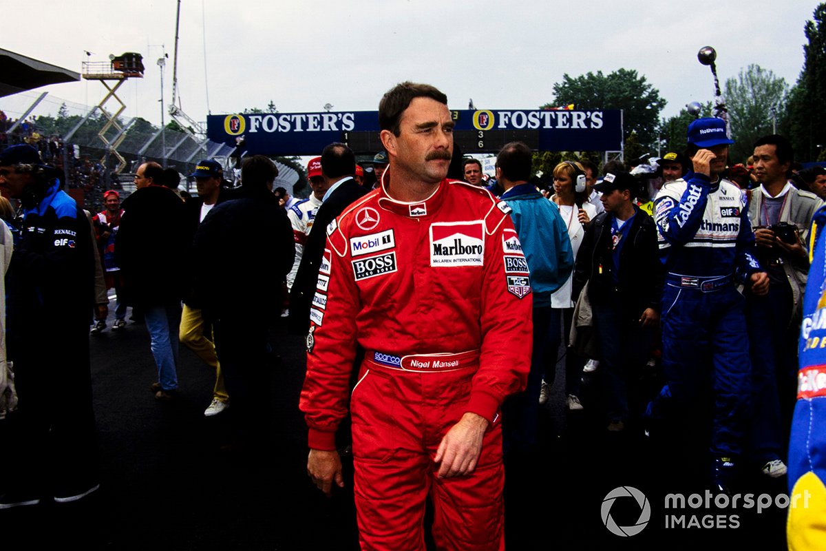Nigel Mansell, McLaren on the grid