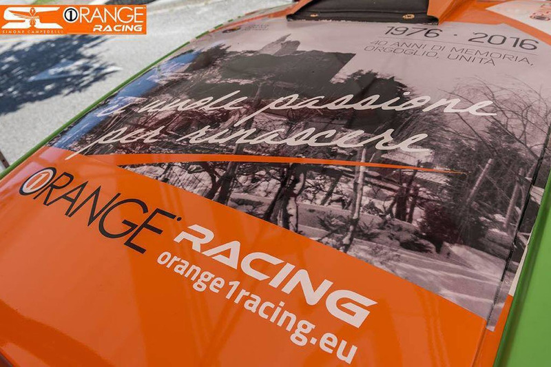 Orange1 Racing, livrea terremoto del Friuli