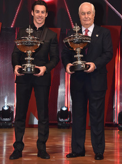 Champion Simon Pagenaud, Team Penske Chevrolet with Roger Penske