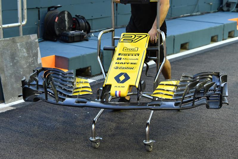 Renault Sport F1 Team RS 18 voorvleugel
