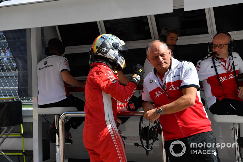 Sebastian Vettel, Ferrari ve Frederic Vasseur, Sauber, Takım Patronu