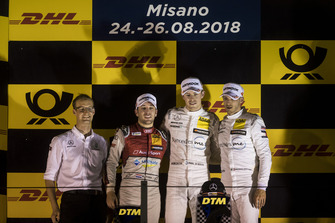 Podium: Race winner Paul Di Resta, Mercedes-AMG Team HWA, Mercedes-AMG C63 DTM, second place Robin Frijns, Audi Sport Team Abt Sportsline, Audi RS5 DTM and third place Edoardo Mortara, Mercedes-AMG Team HWA, Mercedes-AMG C63 DTM