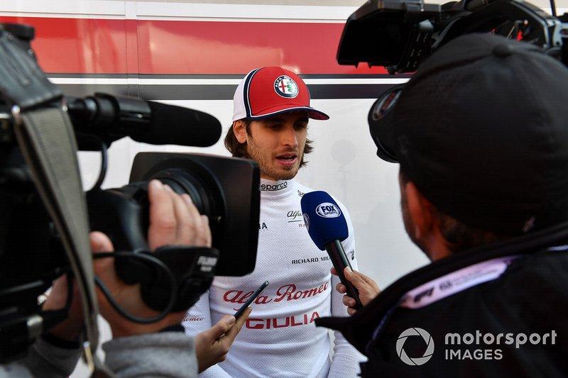 Antonio Giovinazzi, Alfa Romeo Racing parla con i media