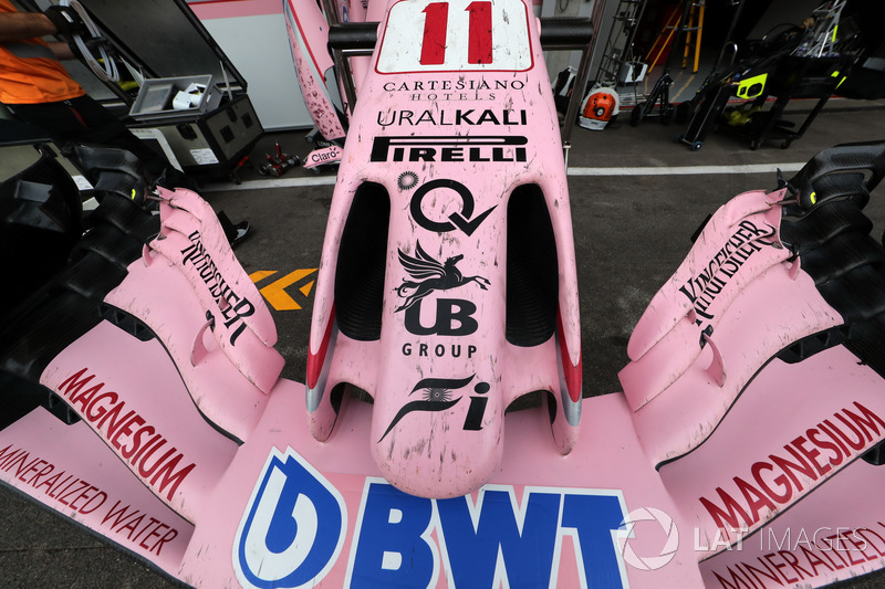 Sahara Force India VJM10 burun ve ön kanat detay