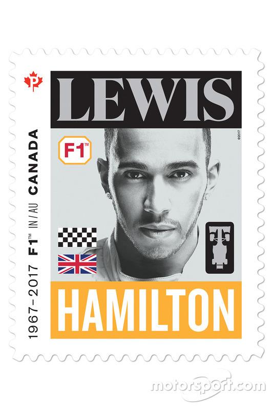 Lewis Hamilton stamp