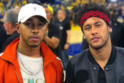 Hamilton e Neymar acompanham final da NBA nos Estados Unidos