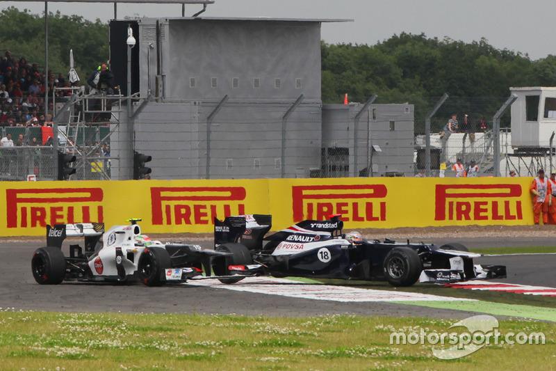 Primer incidente, GP de Gran Bretaña 2012