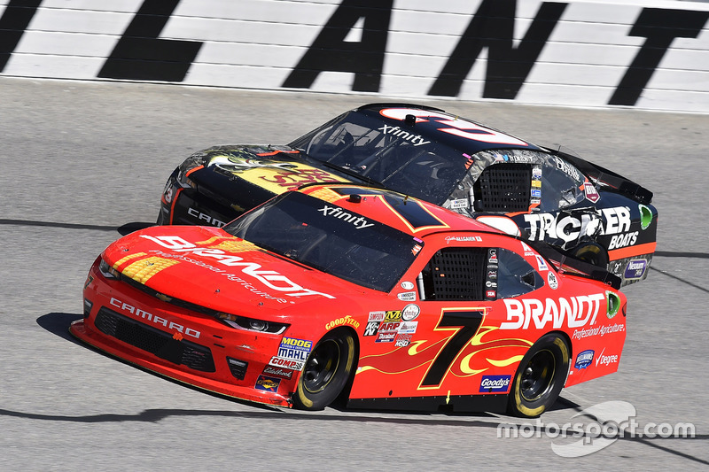 Justin Allgaier, JR Motorsports, Chevrolet; Ty Dillon, Richard Childress Racing, Chevrolet