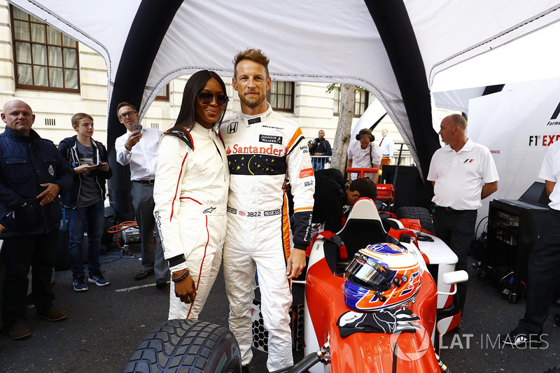 Дженсон Баттон (McLaren) і Наомі Кемпбелл
