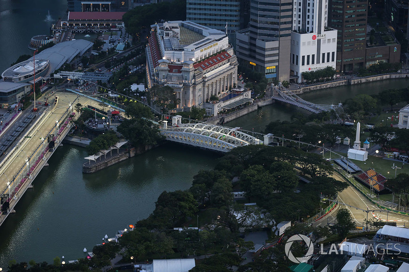 Aerial view from the 66th floor of the Swissotel