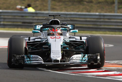 George Russell, Mercedes F1 W08, con l'halo