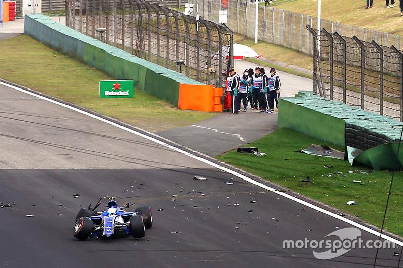 L'accident d'Antonio Giovinazzi, Sauber C36