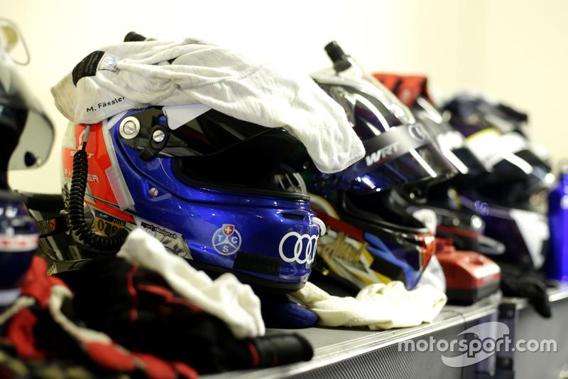 Helmet of Marcel Fässler, Belgian Audi Club WRT