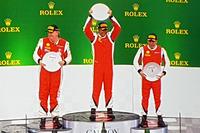 Podium race 1 Ferrari Challenge APAC Australia