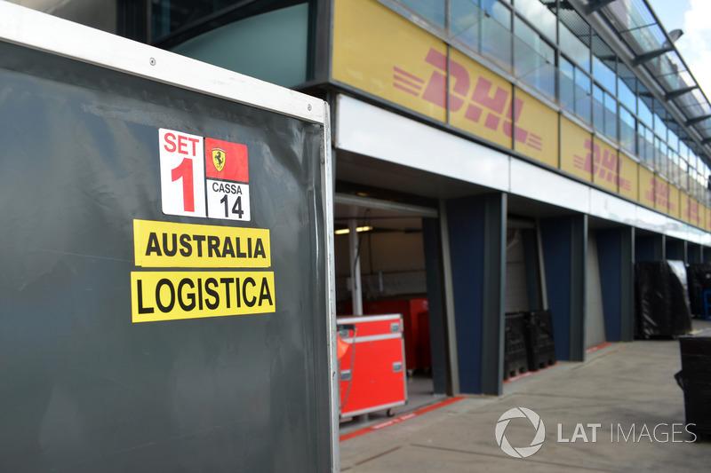 Cassa Ferrari in pit lane