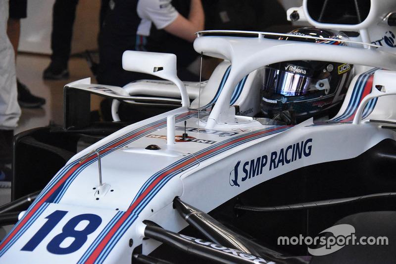 Lance Stroll, detalle delantero Williams FW41