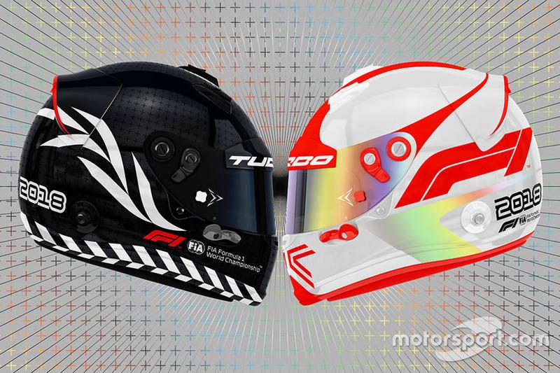 Bosquejo del logotipo de la F1 en lso cascos