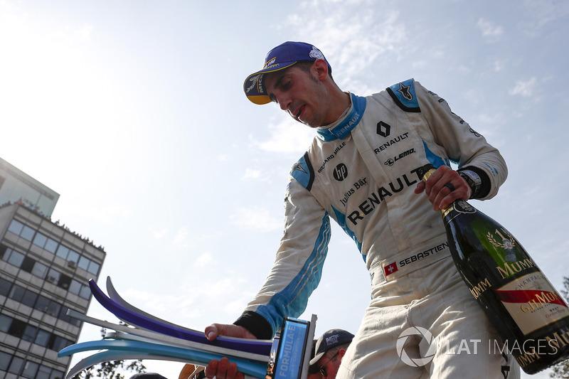 Third place Sébastien Buemi, Renault e.Dams