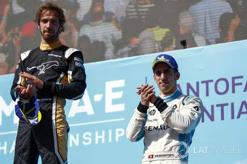 Jean-Eric Vergne, Techeetah finishes 1st with Sébastien Buemi, Renault e.Dams in 3rd