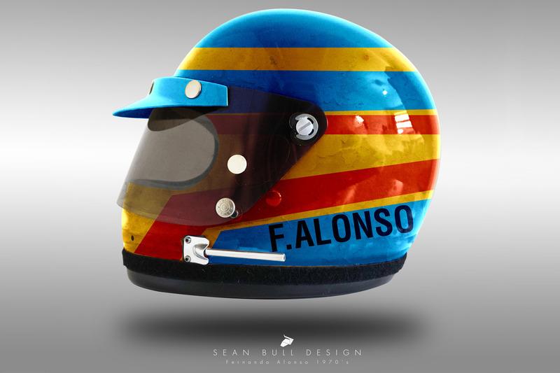 Casco concepto 1970 de Fernando Alonso