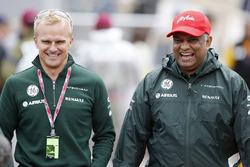Heikki Kovalainen and Tony Fernandes, Co-Chairman, Caterham Group