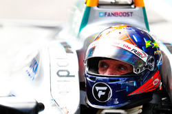 Emerson Fittipaldi, former F1 World Champion, Indy 500 winner, drives the Formula E car
