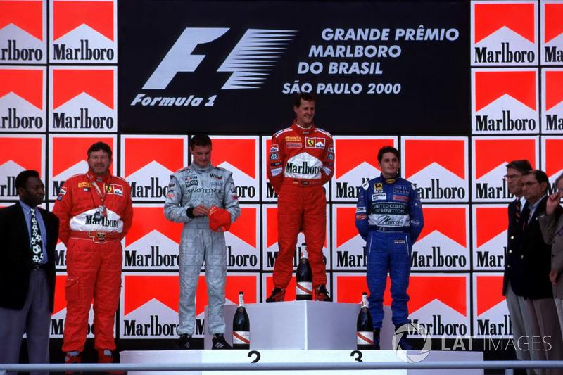 2000: 1. Michael Schumacher, 2. Giancarlo Fisichella, 3. Heinz-Harald Frentzen *