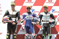 Pole sitter Jorge Martin, Del Conca Gresini Racing Moto3, second place Marcos Ramirez, Bester Capital Dubai, third place Enea Bastianini, Leopard Racing